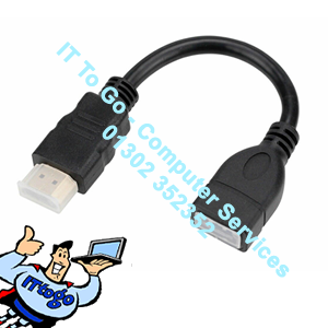 17cm HDMI Male (M) - HDMI Female (F) Adapter