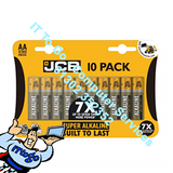 10x JCB Super Alkaline AA Batteries