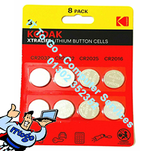 8x Kodak Lithium Cell Button Batteries