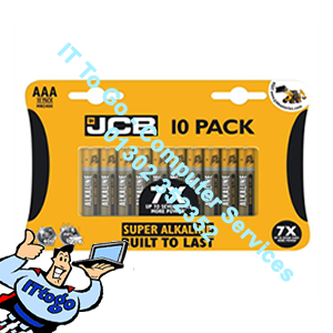 10x JCB Super Alkaline AAA Batteries