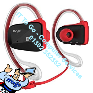 Sumvision PSYC Elise SX Bluetooth Sports Headphones (Red) - IT To Go - Computer Services