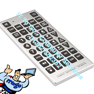 Universal Large Key Remote Control TV, Sat, Cable, Sound, DVD - IT To Go - Computer Services