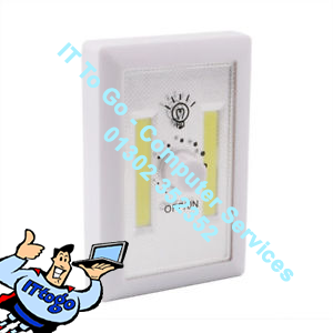 Status LED Battery Operated Dimmable Light Switch - IT To Go - Computer Services