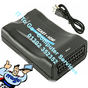 1080P HD SCART to HDMI Adapter Video Audio Upscale Converter USB Cable TV DVD