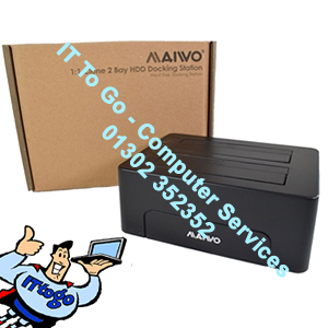 "Maiwo 3.5"" & 2.5 External Sata Hard Drive Bay/Clone Enclosure"