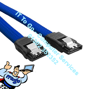 50cm SATA3 6gb Data Cable Blue - IT To Go - Computer Services
