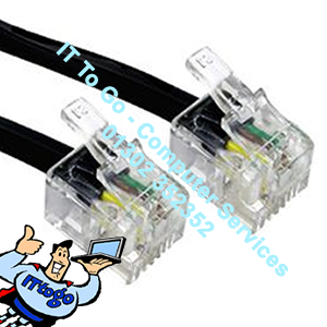 10m ADSL Male (M) - ADSL Male (M) Cable (Black)