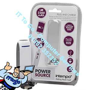 Intempo 2200MAH Power Source White