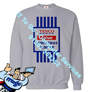 Tesco Savers Adult Christmas Jumper - IT To Go - Computer Services