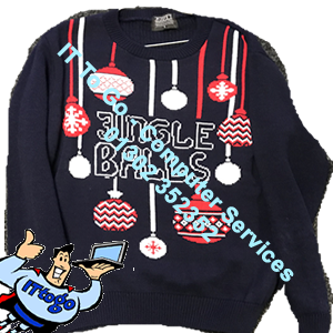 Jingle Balls Adult Christmas Jumper - IT To Go - Computer Services