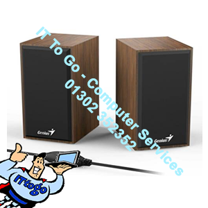 Genius SP-HF180 4 Watt USB 2.0 Wooden Speakers Wood Effect