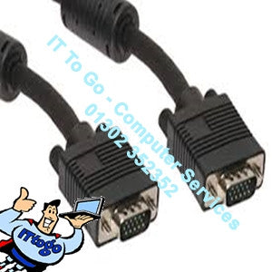 Pluscom 5m Scart Male - VGA Male Cable - IT To Go - Computer Services