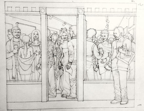 "Preliminary Drawing for ""Celebrated Painter"""
