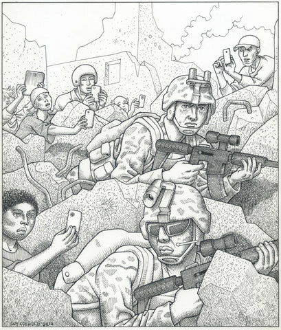 Soldiers ad Cellphones