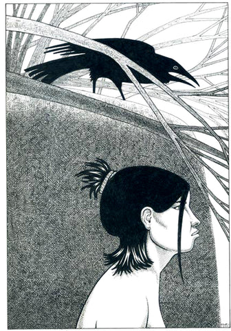 Woman and Crow