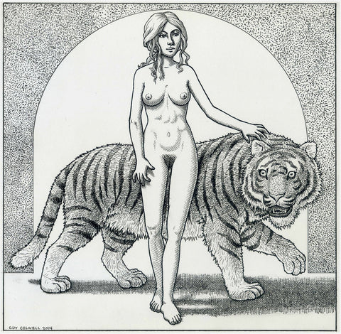 Woman and Tiger by Arch