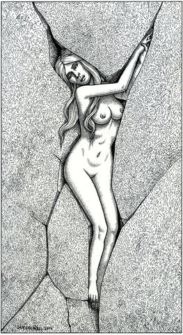 Woman in Crevice 2