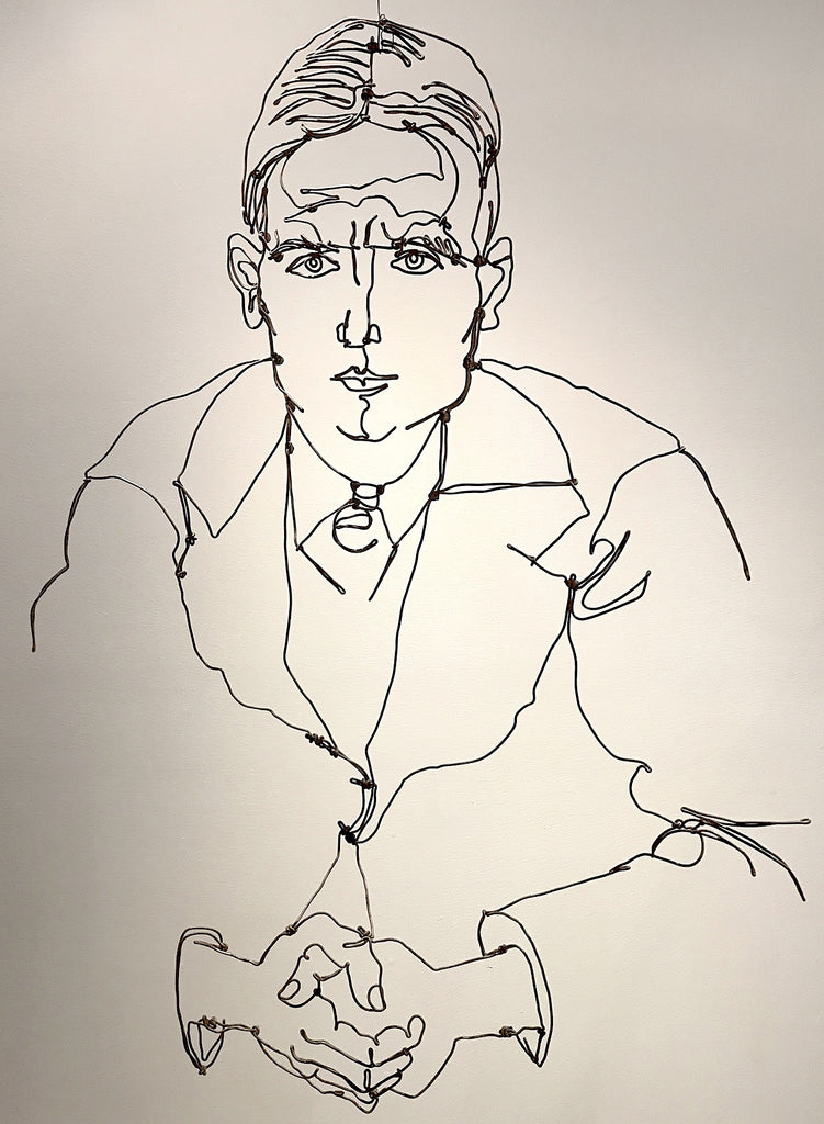 Egon Schiele Study of Man w/ Folded Hands