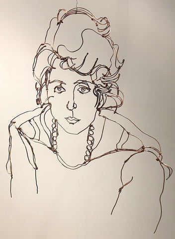 Egon Schiele Study of Stern Woman