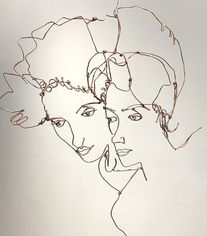 Egon Schiele Study of Two Women