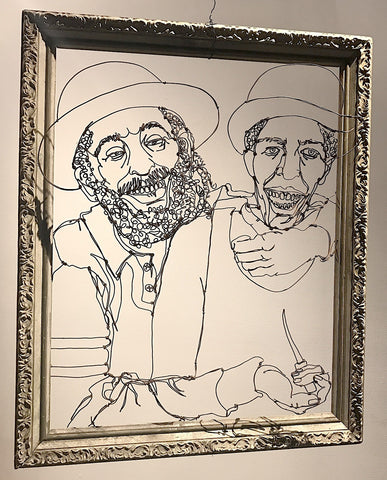 Portrait of a Haisidic Rabbi Pretending to Shank a Jamaican Immigrant