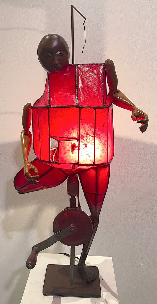 Red Lamp with Unfinished Decision Making Machine
