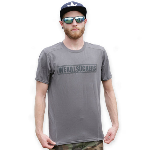 Bunkerkings Athlete Dry Fit Shirt - WKS - Marbled Charcoal