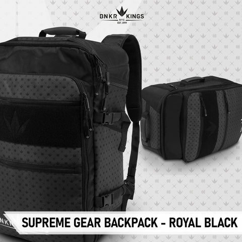 Bunkerkings Supreme Gear Backpack - Royal Black - Kickstarter Reward