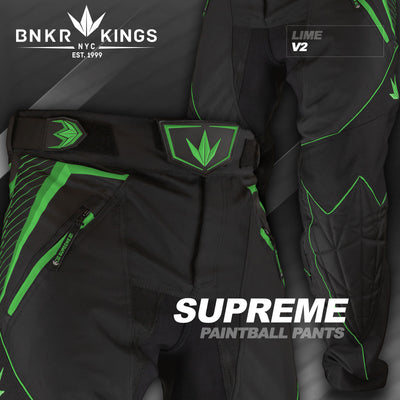 Bunker Kings V2 Supreme Pants - Lime