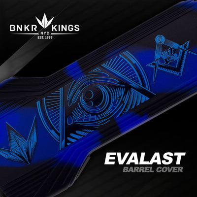 Bunker Kings - Evalast Barrel Cover - Conspiracy - Blue