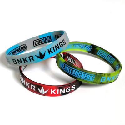 Bunkerkings Wristbands (3-Pack) - Red/Cyan/Lime