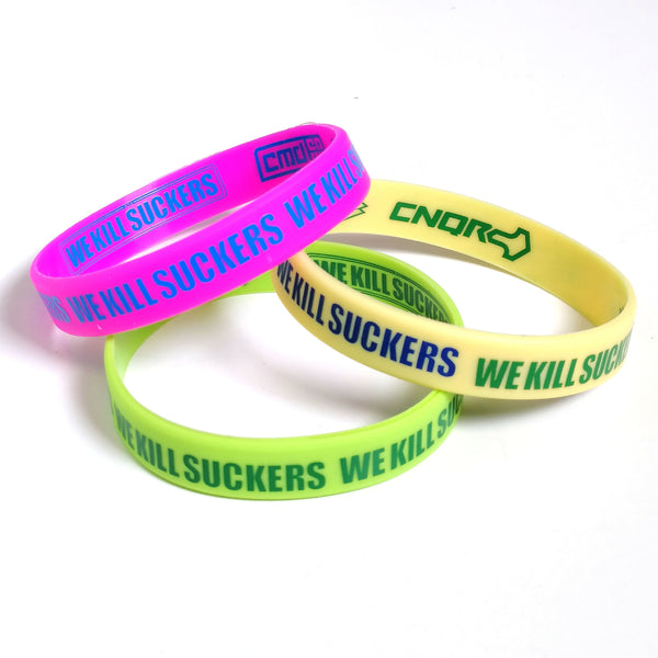 Bunkerkings Wristbands (3-Pack) - Pink/Rainbow/Lime