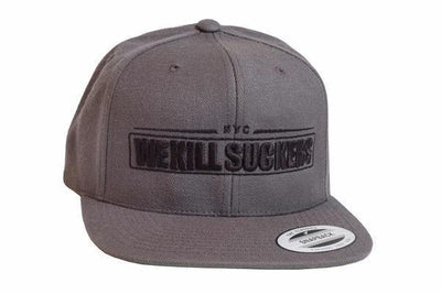 Bunkerkings Snapback Cap - We Kill Suckers - Grey