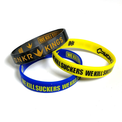 Bunkerkings Wristbands (3-Pack) - Black/Yellow/Navy