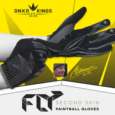 Bunkerkings Fly Paintball Gloves - Black