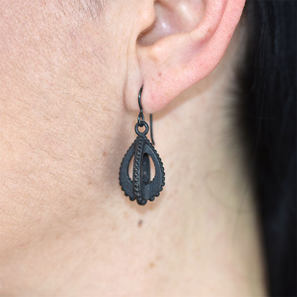 Emira Teardrop Earrings Steel