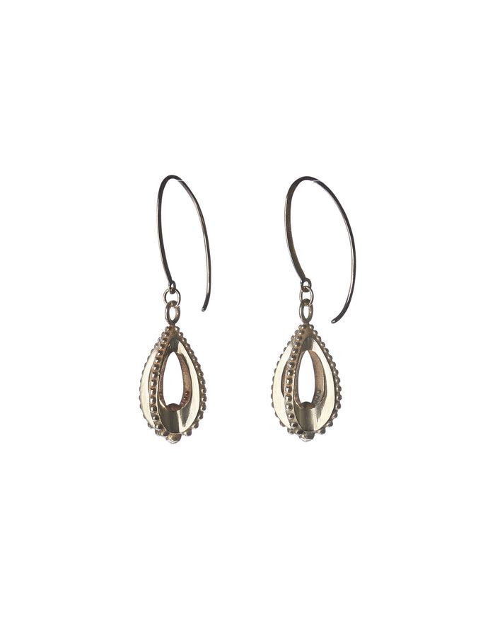 Emira Teardrop Earrings Bronze