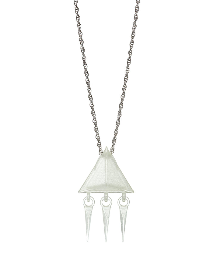 Pyramid Fringe Necklace