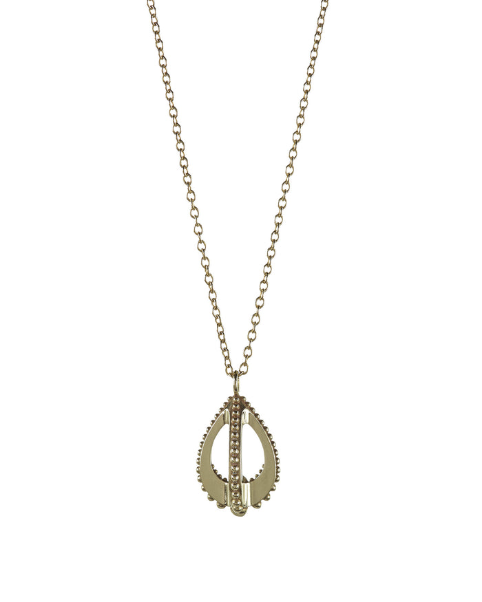 Emira Teardrop Necklace Bronze