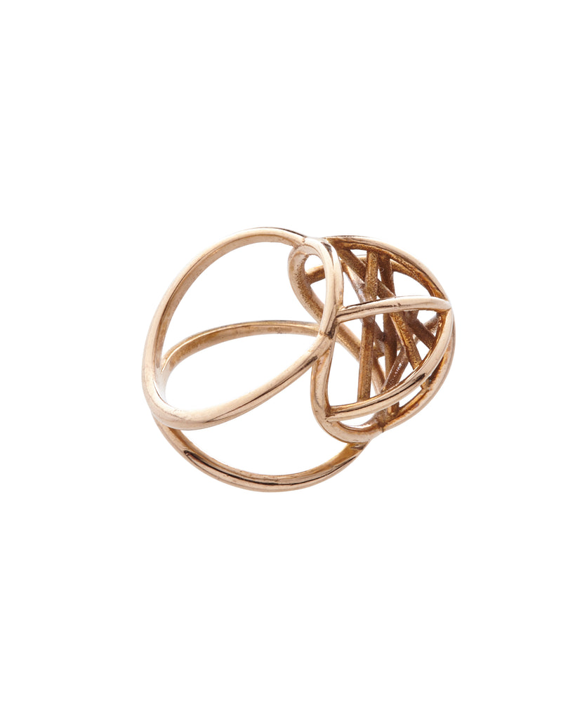 Hidden Star Ring Bronze