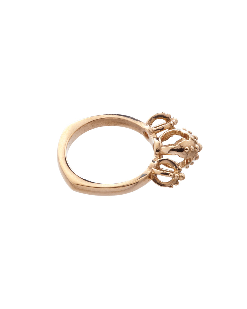 Emira Trio Dome Ring Bronze