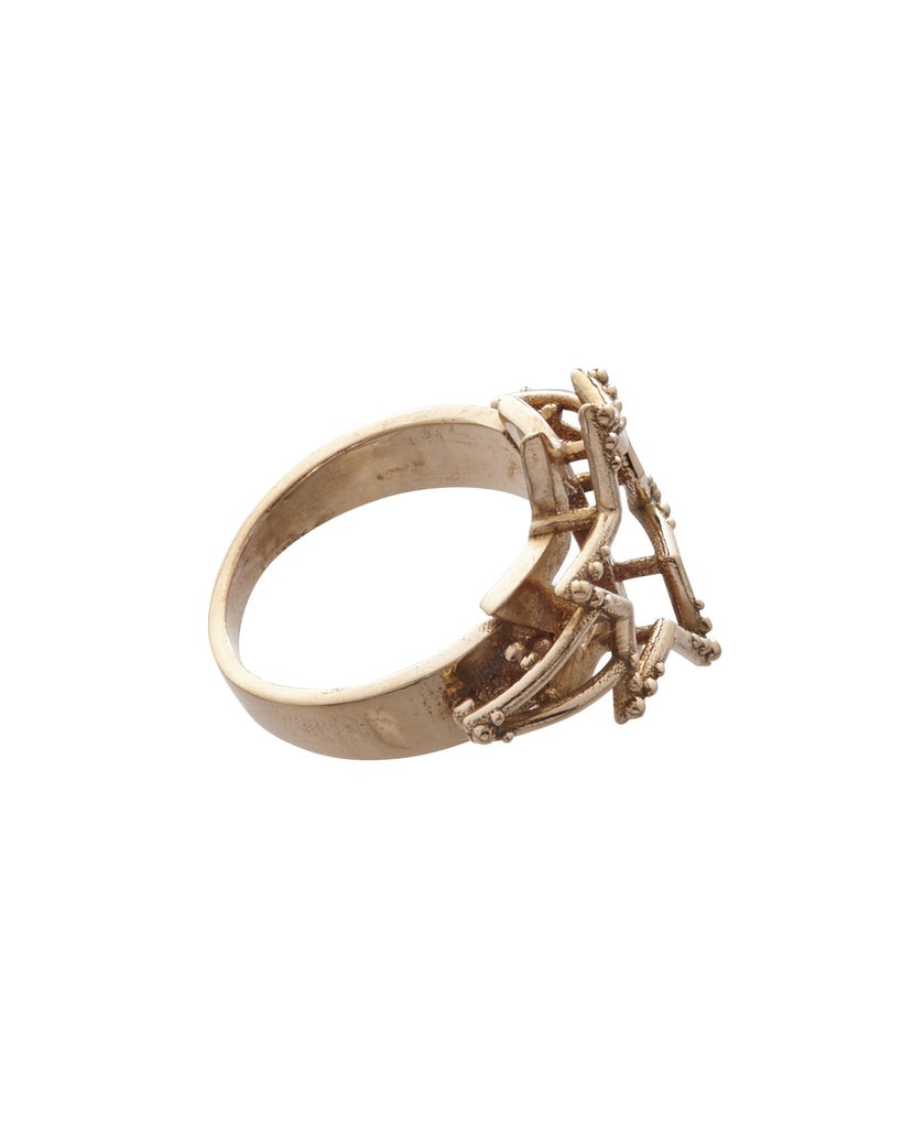 Six Points in Heaven Ring Bronze