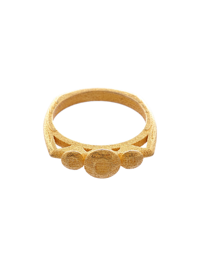Triella Ring Gold Steel