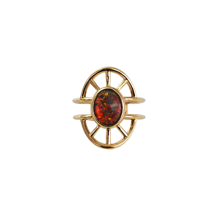 Priestess Ring No. 1 -- Opal and Bronze