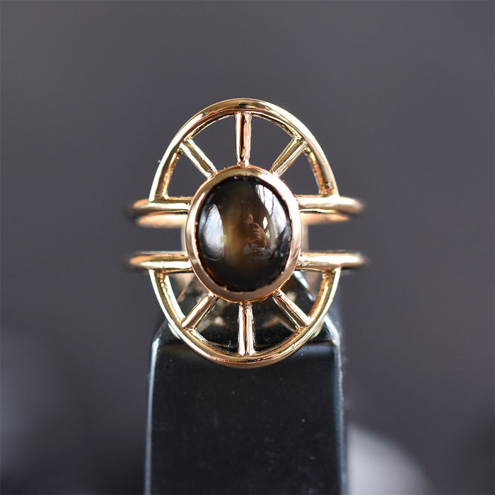 Priestess Ring No. 1 -- Bronze and Sapphire