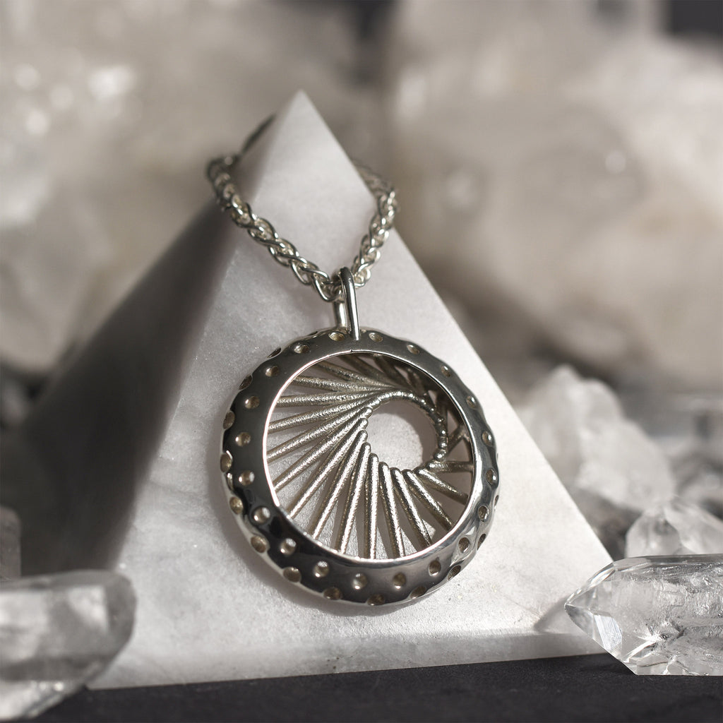 Radial Pendant Silver
