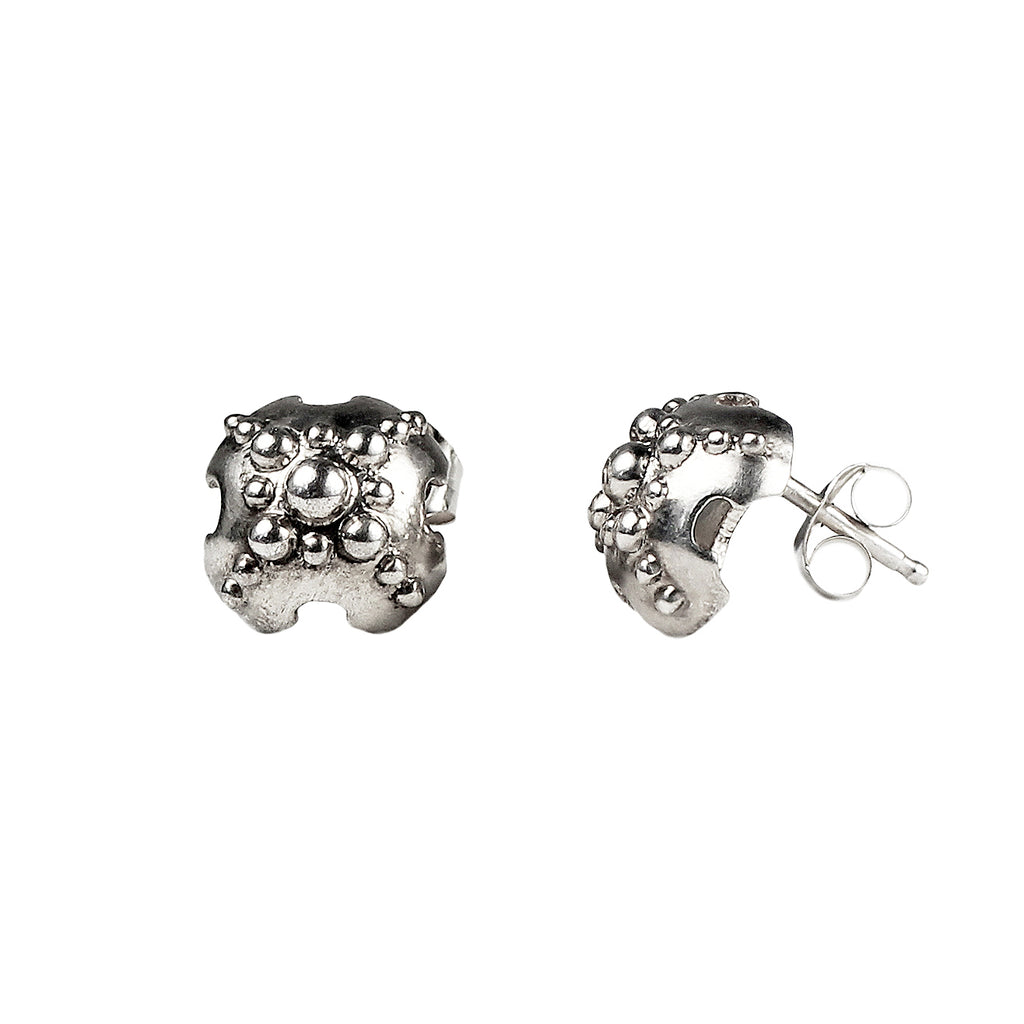 Emira Dome Stud Earrings