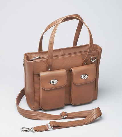 GTM-86 CARGO POCKET COWHIDE TOTE