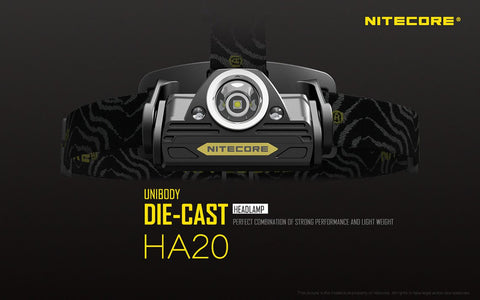 NITECORE HA20 300 LUMENS CREE XP-G2 LED HEADLAMP POWERED BY AA BATTERIES