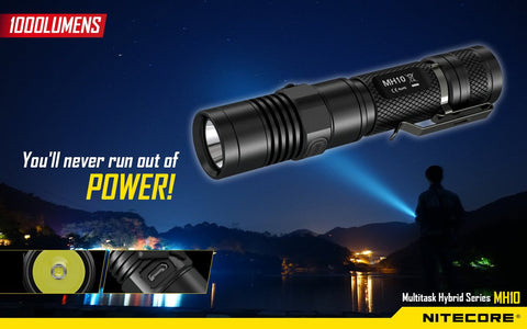 NITECORE MH10 CREE XM-L2U2 USB RECHARGEABLE LED FLASHLIGHT 1000 LUMEN